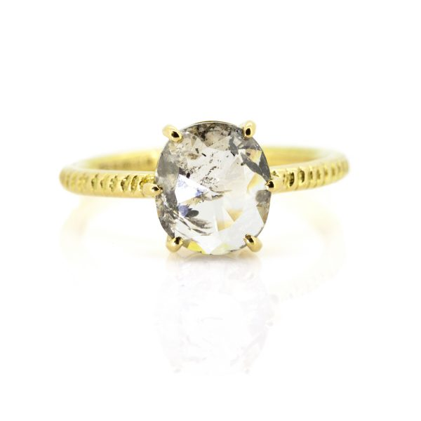 Oval Rose Cut Diamond Claw Ring by Sorrel Bay