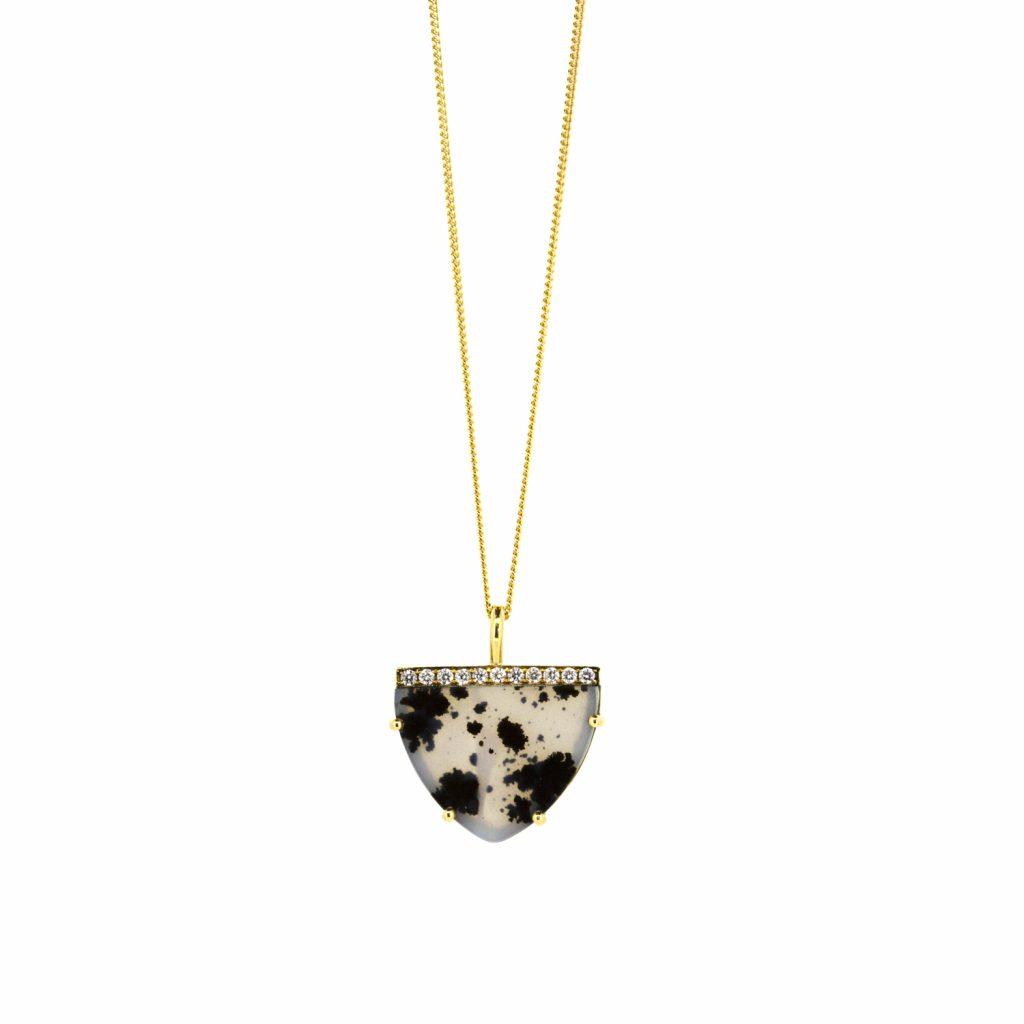 Agate Shield Pendant by Sorrel Bay