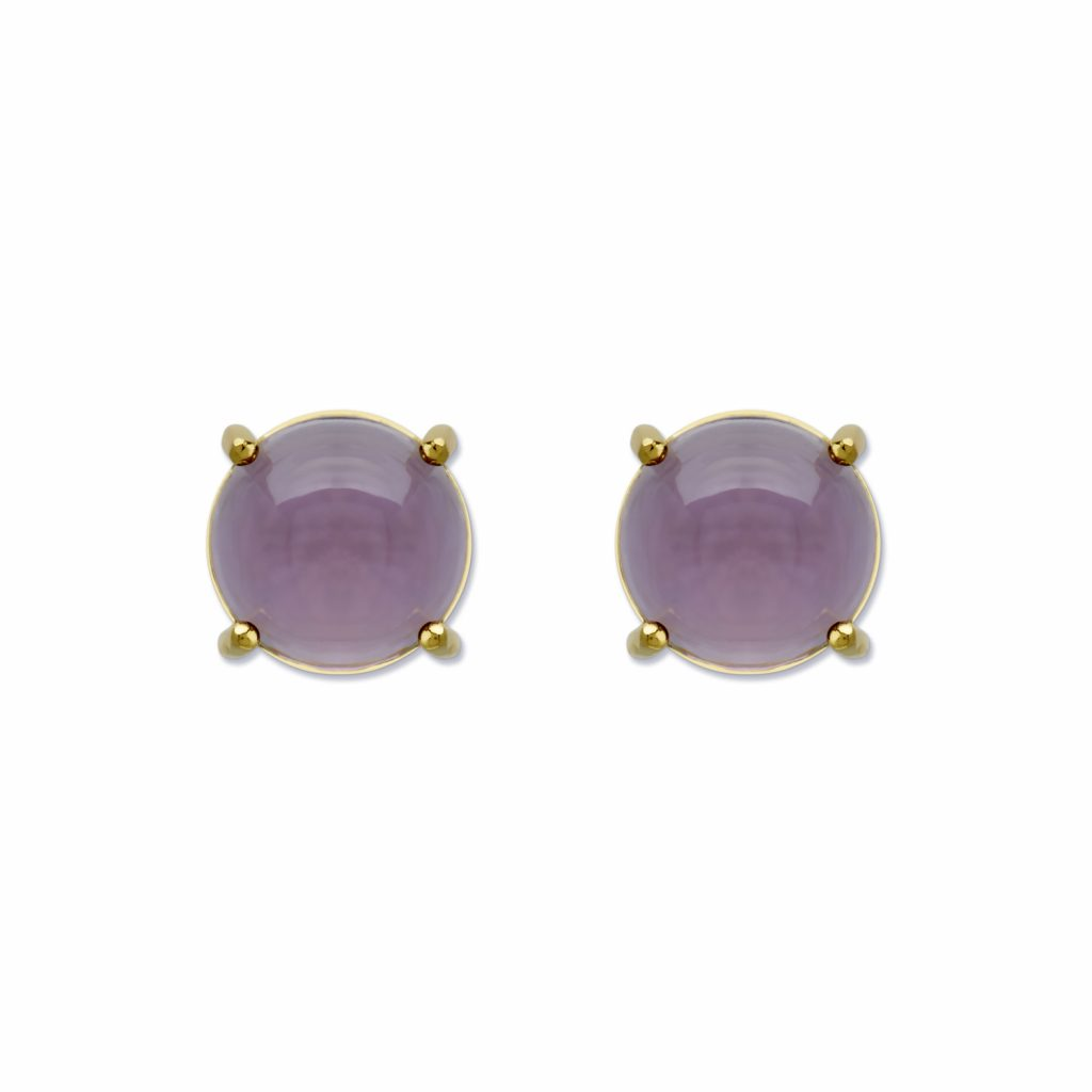 6mm Round Stud Earrings by Maviada