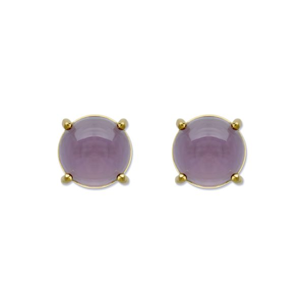 6mm Round Stud Earrings by Maviada