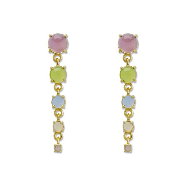 Rainbow Drop Cascade Earrings by Maviada