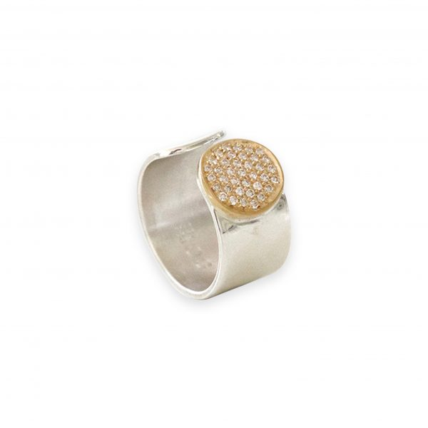 Ania Silver and 18k Gold with Diamonds by Stephanie Cachard