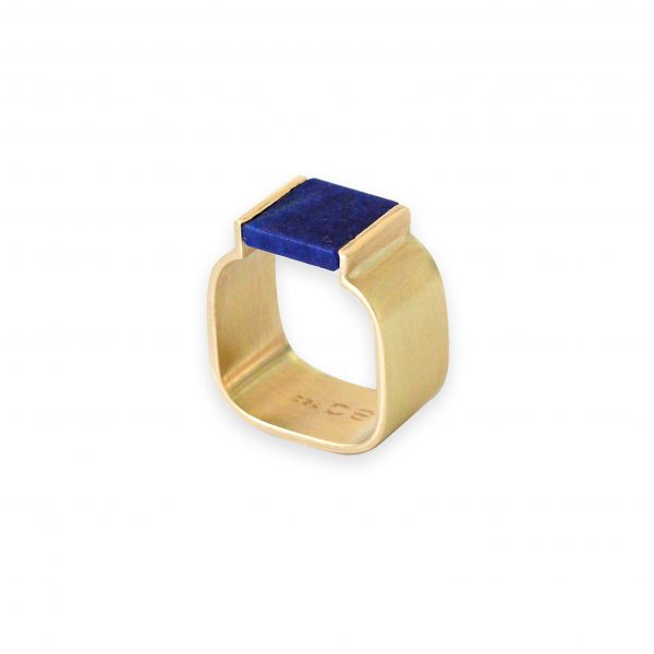 Ann 18k Gold with Lapis by Stephanie Cachard