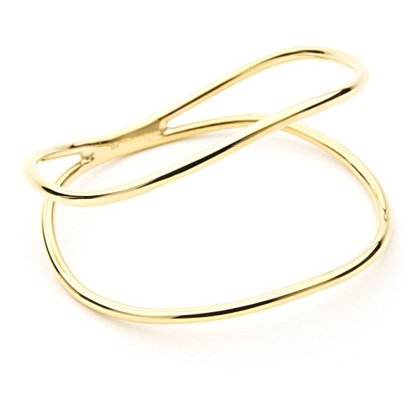 Curved Double Bracelet – Gold by Maviada