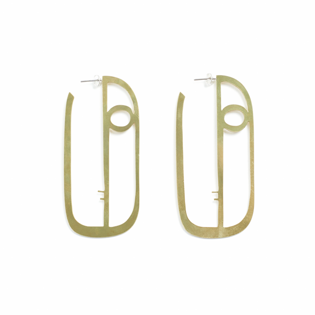 Long Face Earrings by Kalmar