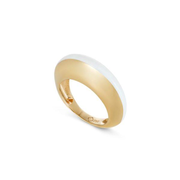 Enamel Ring White by Maviada