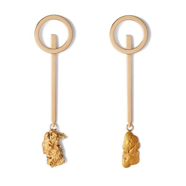 Earth Circle Earrings by Makal