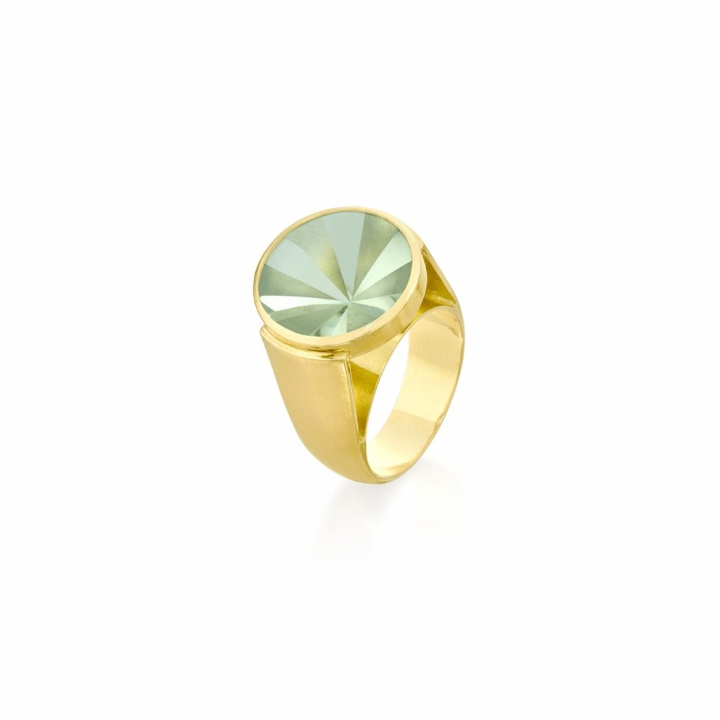 Kaleidoscope Praziolite Ring by Rose Carvalho