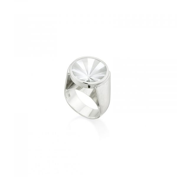 Kaleidoscope White Topaz Ring by Rose Carvalho