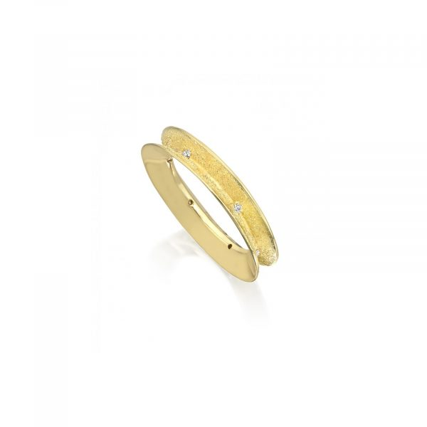 Groove and Stardust Band Small Ring by Rose Carvalho