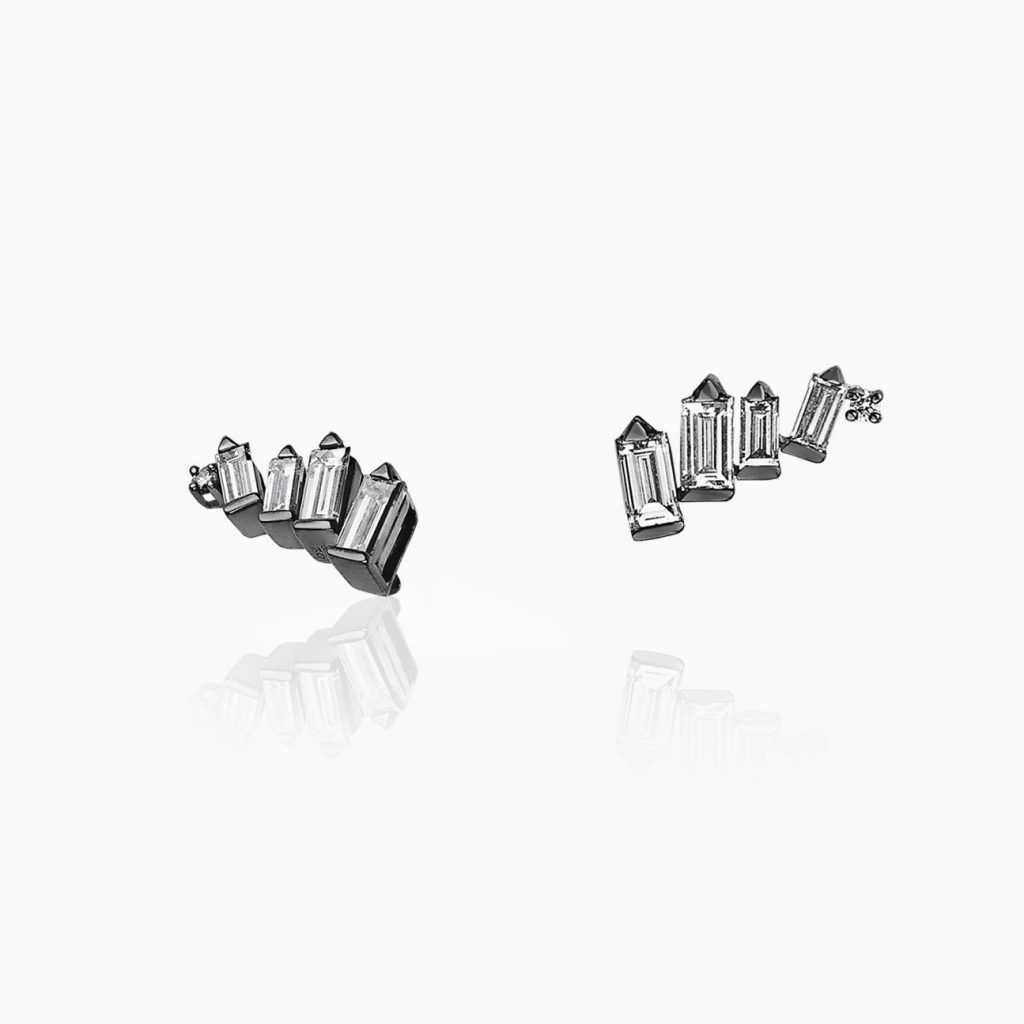 Cosmic Curve Stud Earrings by Tomasz Donocik