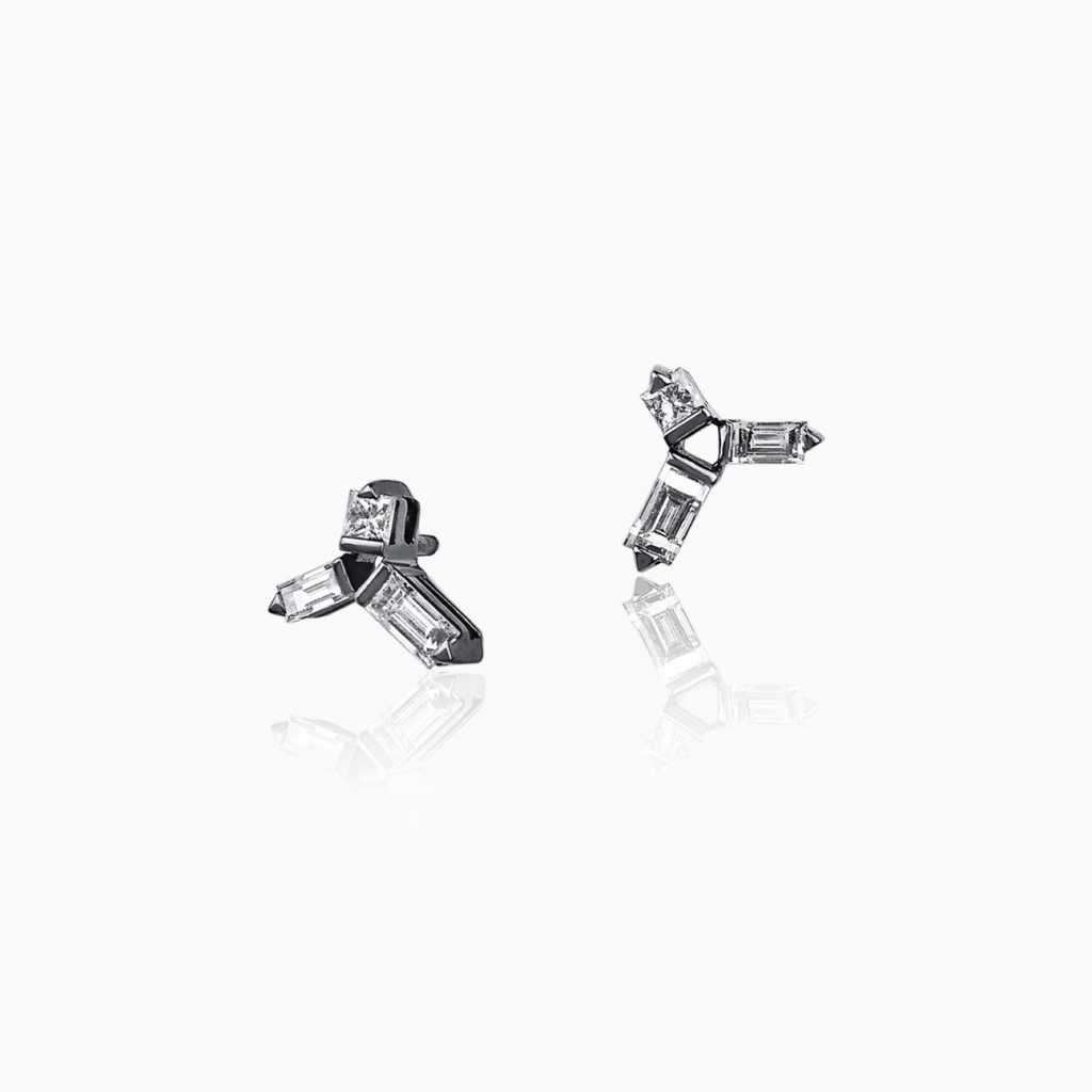 Cosmic Helix Stud Earrings by Tomasz Donocik