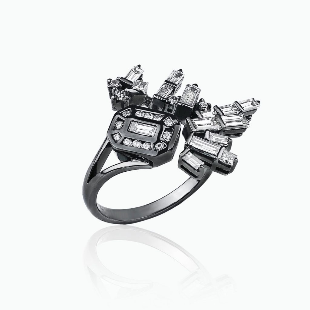 Cosmic Open Explosion Ring by Tomasz Donocik