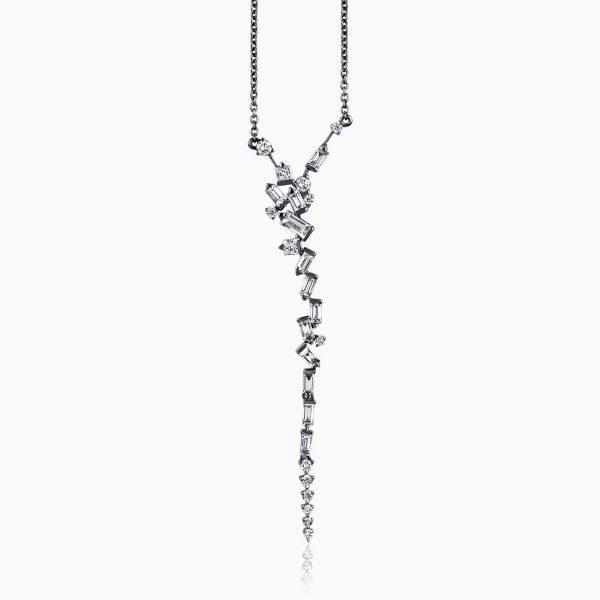 Cosmic Long Drop Necklace by Tomasz Donocik