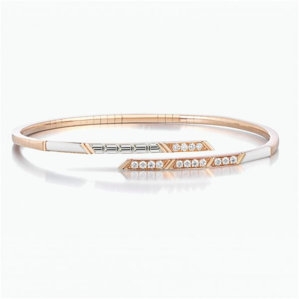 Diamond Stellar Flexible Bangle by Tomasz Donocik