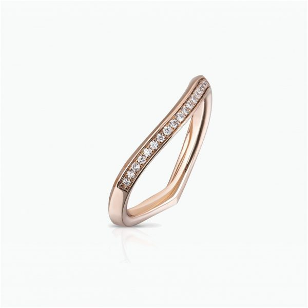 Lily Pad Wedding Band in Rose Gold by Tomasz Donocik