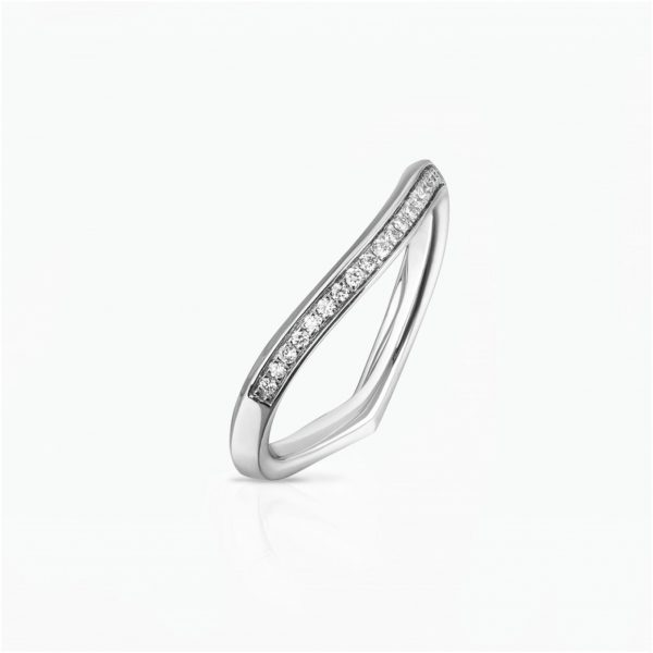Lily Pad Wedding Band in White Gold by Tomasz Donocik