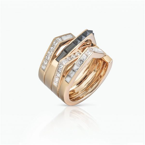 Stellar Dusk Band Ring by Tomasz Donocik