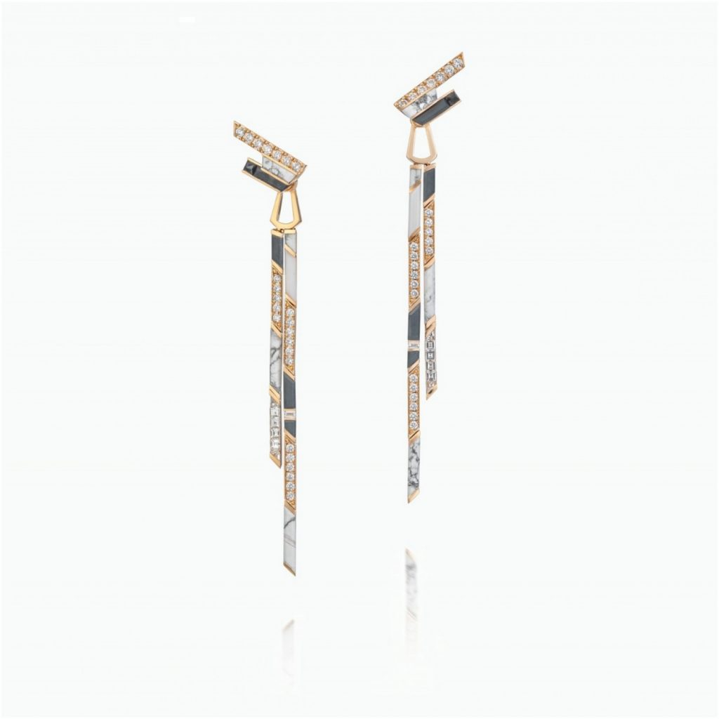 Stellar Dusk Sand Fall Earrings by Tomasz Donocik