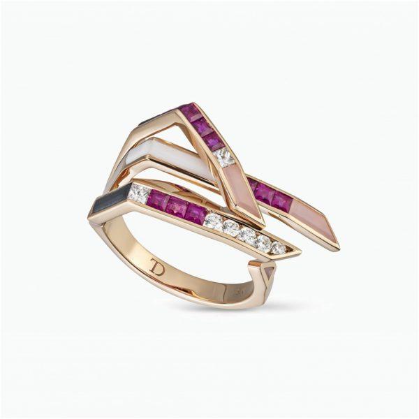 Stellar Wing Ring by Tomasz Donocik