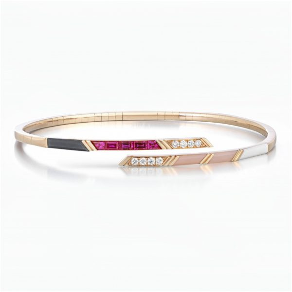 Stellar Flexible Bangle by Tomasz Donocik