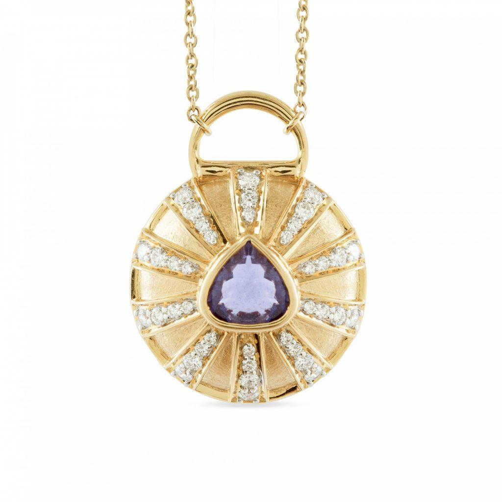 Blue Iolite Necklace by Zaabel