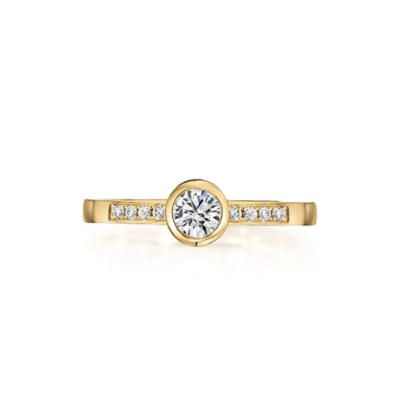 Brilliant Diamond Solitaire Ring by Flora Bhattachary
