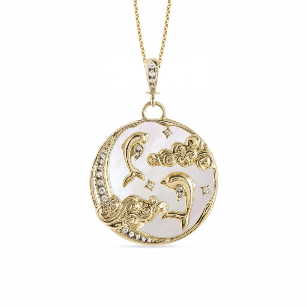 Dolphin Pendant Necklace by Zaabel