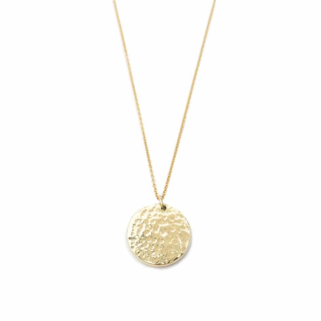 Janoni Hammered Brass Medallion Necklace by Yala