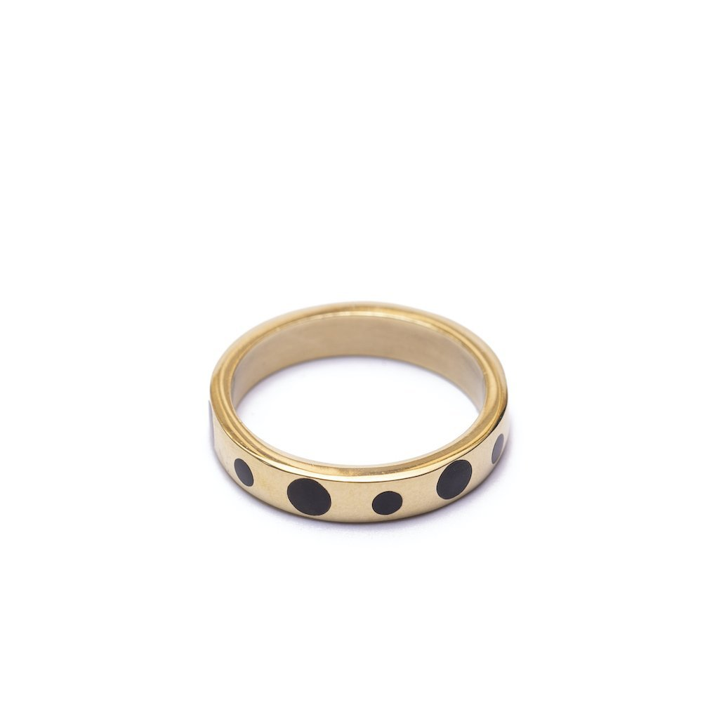 Kisian Horn Inlay Ring by Yala