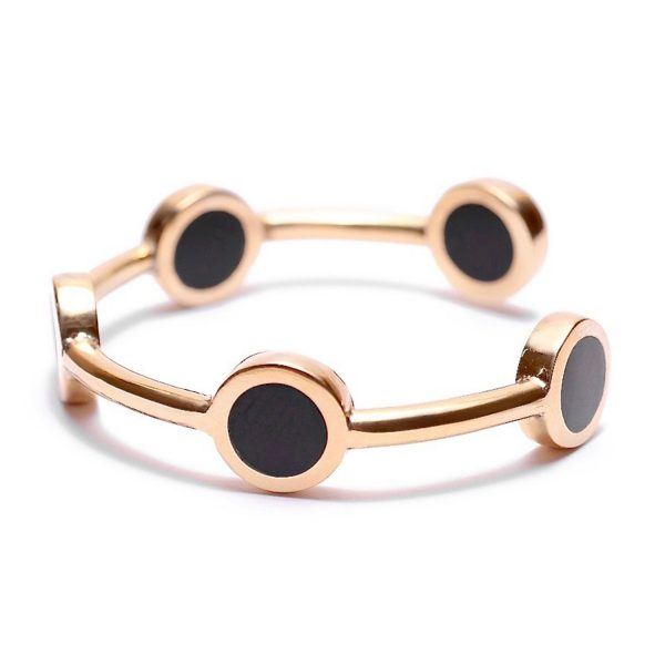 Ortum Brass and Horn Cuff Bracelet by Yala