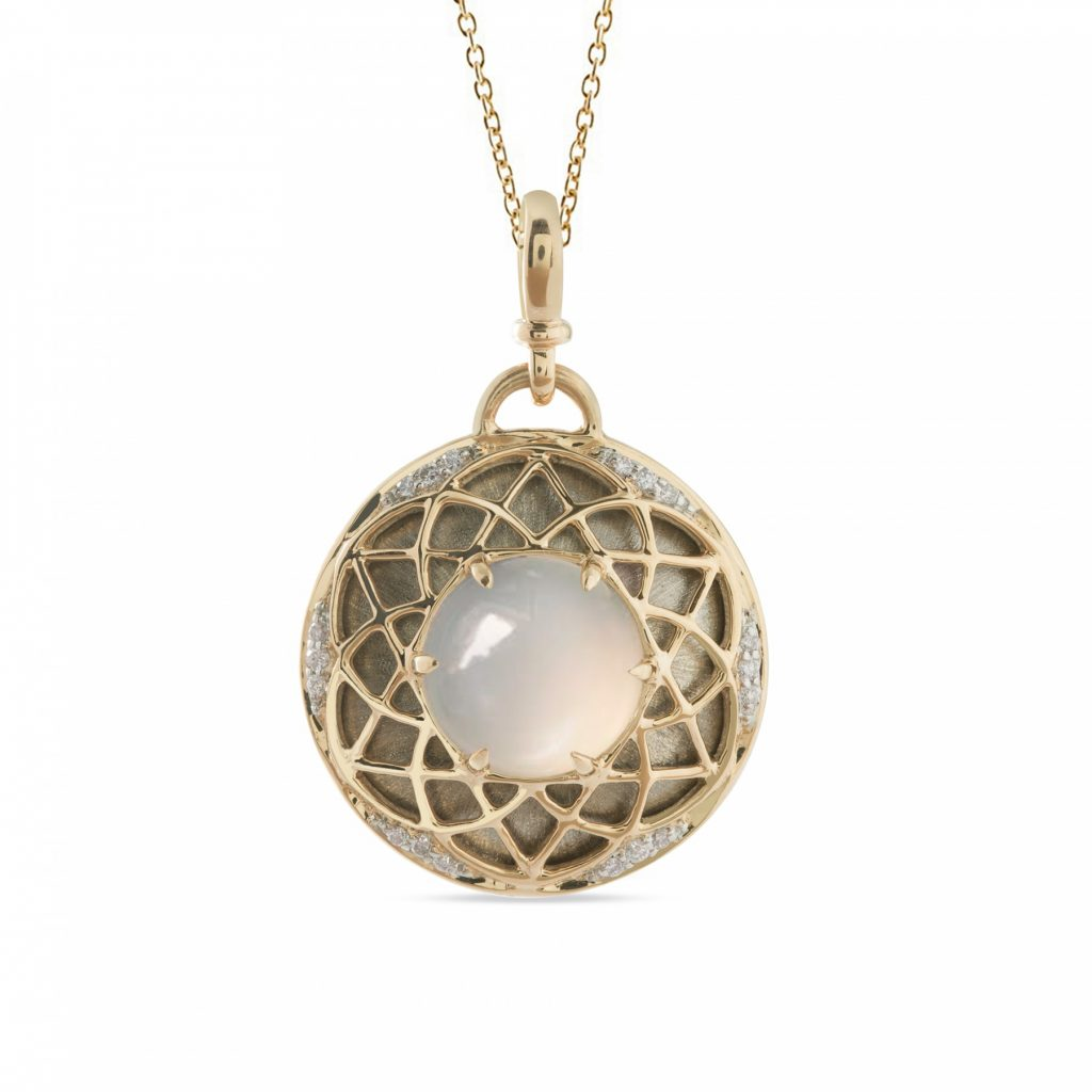 Sacred Geometry Pendant Necklace by Zaabel