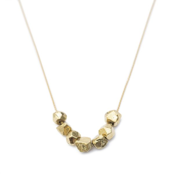 Sagana Brass Nugget Necklace by Yala