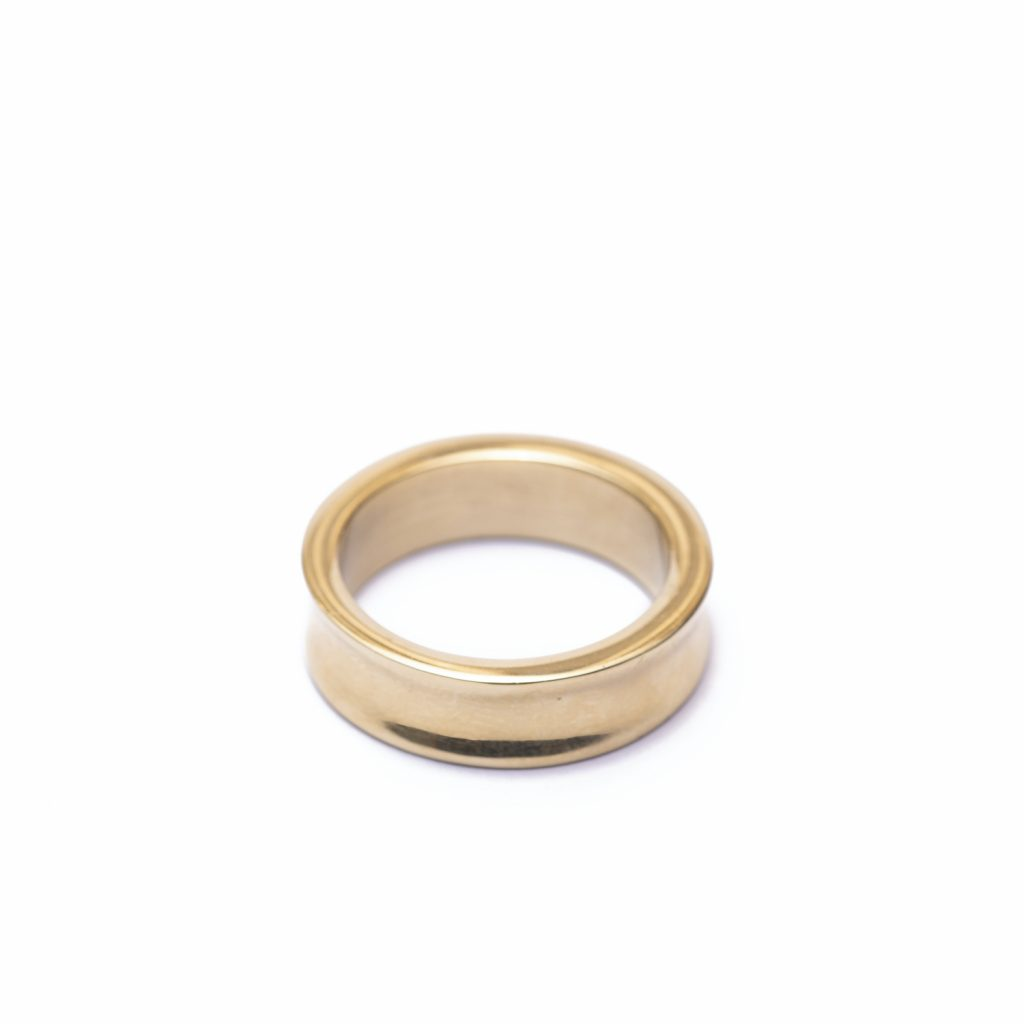 Yimbo Scooped Brass Ring by Yala