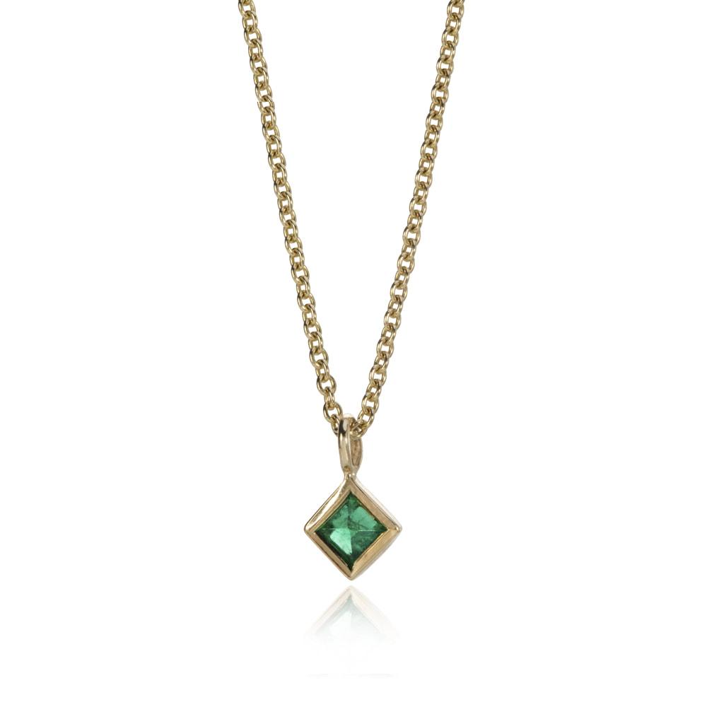 Fan Emerald Pendant by Ellie Air