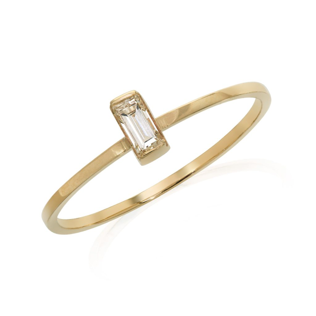 Lantern Diamond Stacking Ring by Ellie Air
