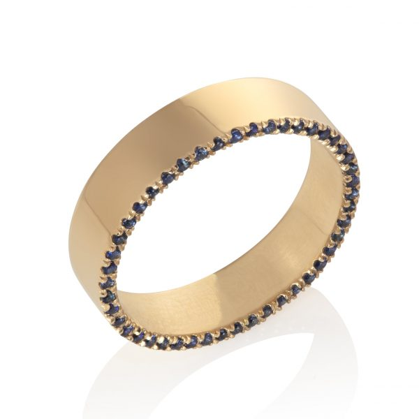 Sapphire Orbit Ring by Ellie Air