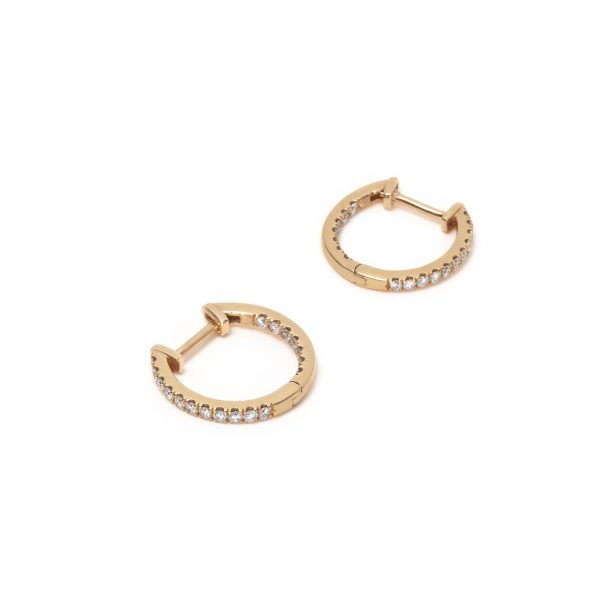 Diamond Studded Hoop Earrings by With Love Darling