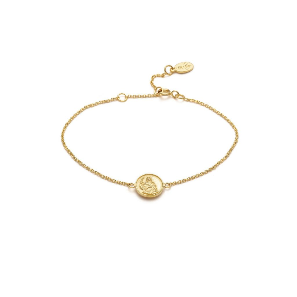 Global Goal #1: Abundantia Medallion Bracelet by With Love Darling