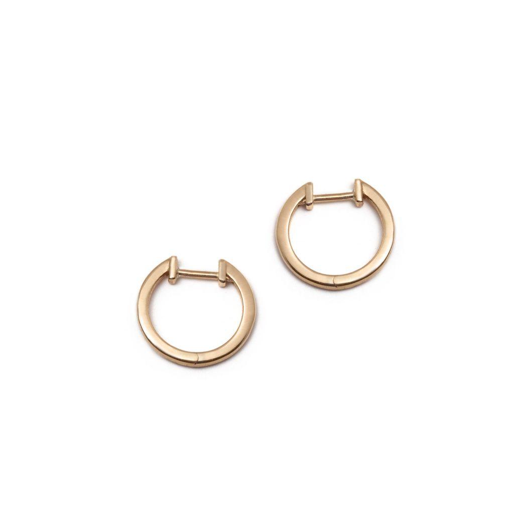 Gold Hoop Earrings by With Love Darling