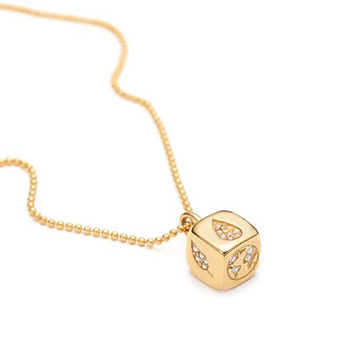 Planet Cube Necklace by With Love Darling