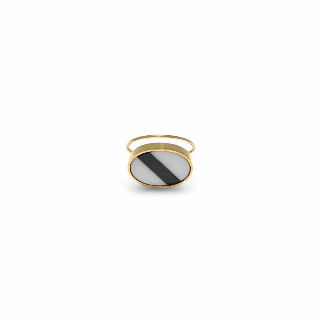 Black Stripe Ring by Hugo Madureira