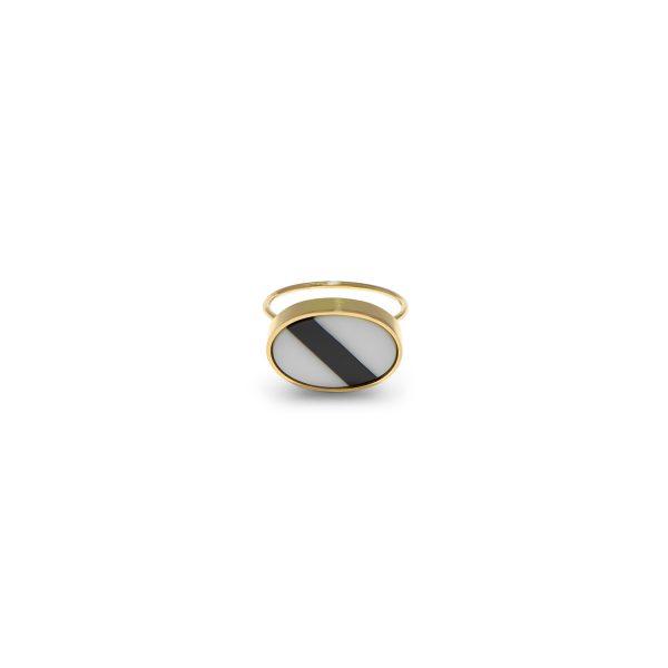 Black Stripe Ring by Hugo Madureira