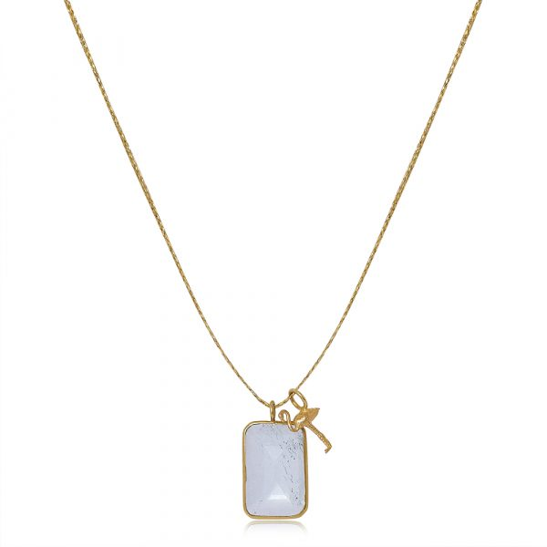 Colette Set Pendant with Gold Flamingo by Pippa Small