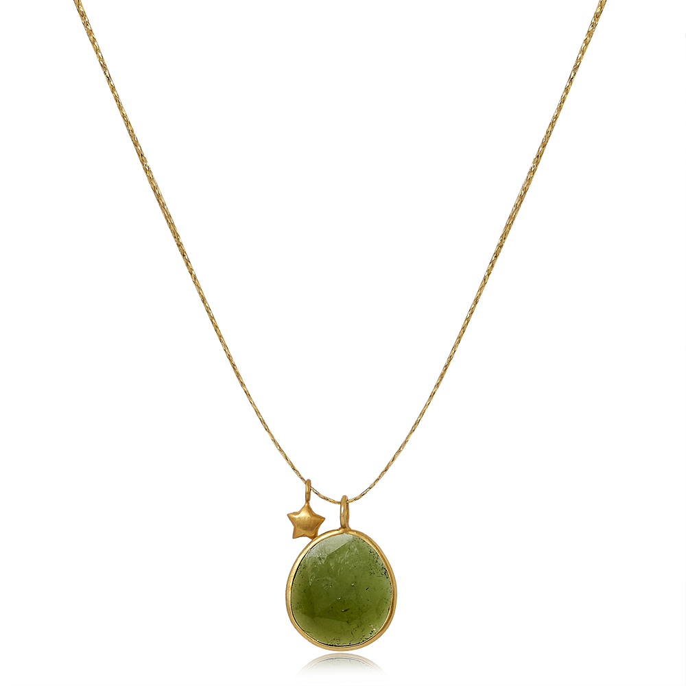 Colette Set Pendant with Green Tourmaline and Star by Pippa Small