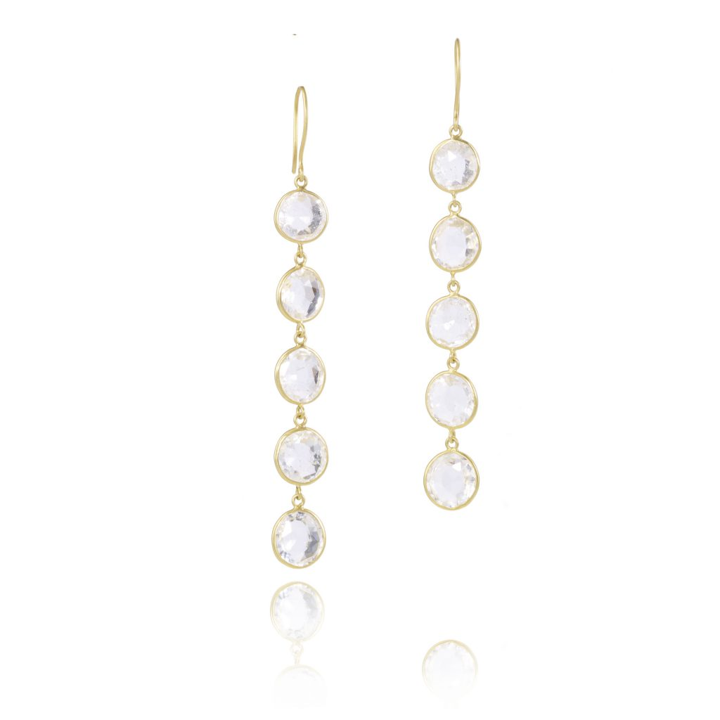 Mughal Dreams Five Drop Earrings by Pippa Small