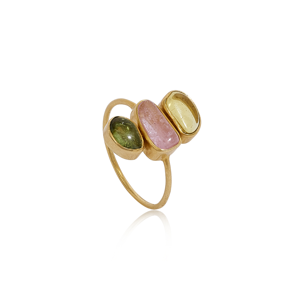 Tinkerbell Three Stone Ring by Pippa Small