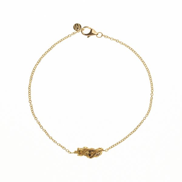 Charm Bracelet with One Nugget by Makal