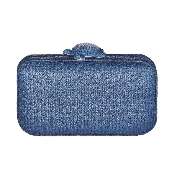 Mustique Sea Life Turtle Clutch – Blue by Atelier Swarovski