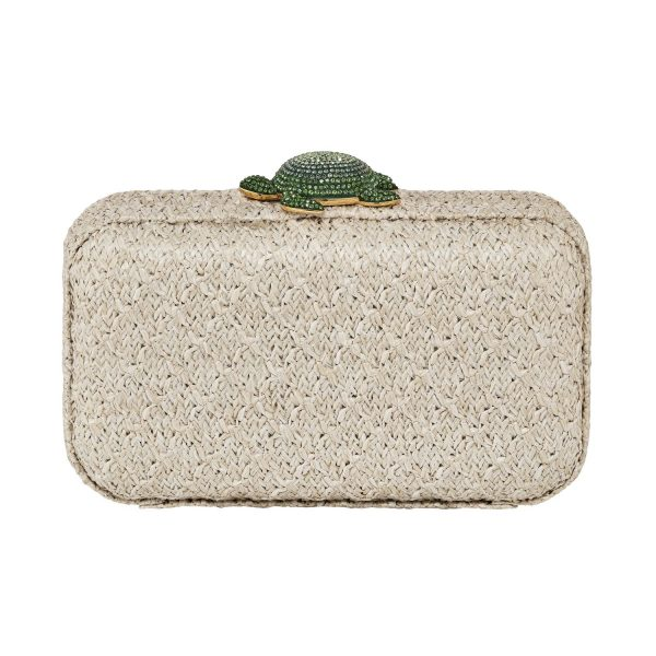 Mustique Sea Life Turtle Clutch – Ivory by Atelier Swarovski